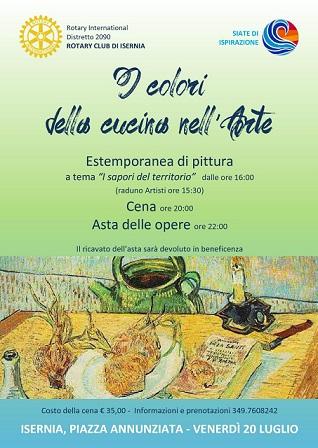 I colori della cucina nell\'arte, il Rotary Club Isernia tra arte e ...